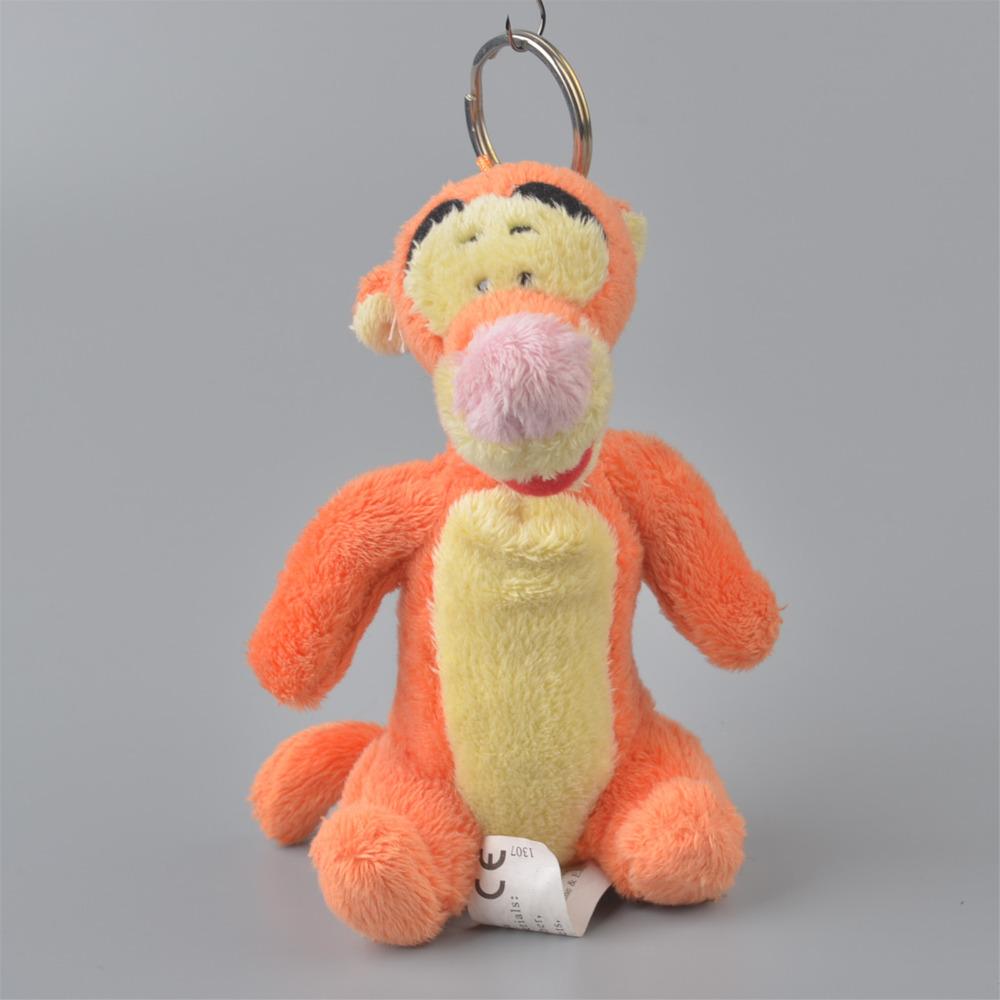 5 Pcs Winnies Tiger Pendant Stuffed Plush Keyring, Key holder / Keychain Gift Free Shipping(China (Mainland))