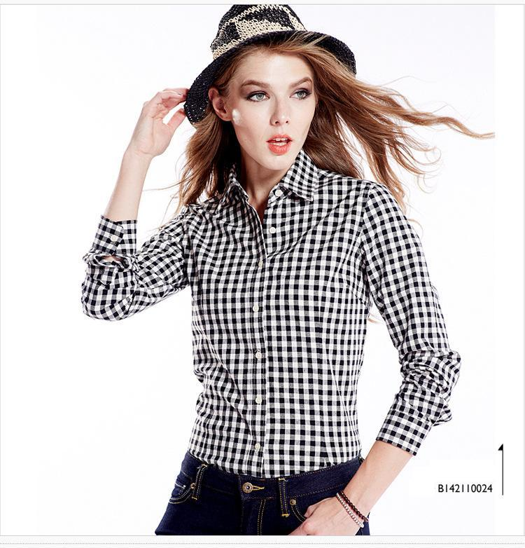 Tartan Plaid Shirt Womens