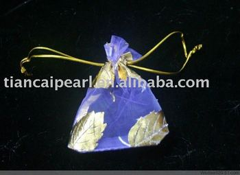 Bllue Organza Wedding Gift Pouches Bags 12x9cm