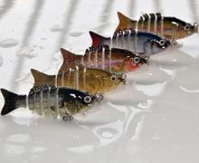 50mm/2.5g Mini 6 Segments Herring Swimbait Wobbler Real Life-Like Fishing Lure, Minnow Hard bait Tackle, 5pcs/lot(China (Mainland))