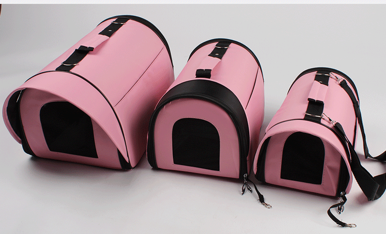 2015 New fashion Dog transporting bags Trendy casual bag carriers for dogs Portable bicycle bag for dog Pink bag dog(China (Mainland))