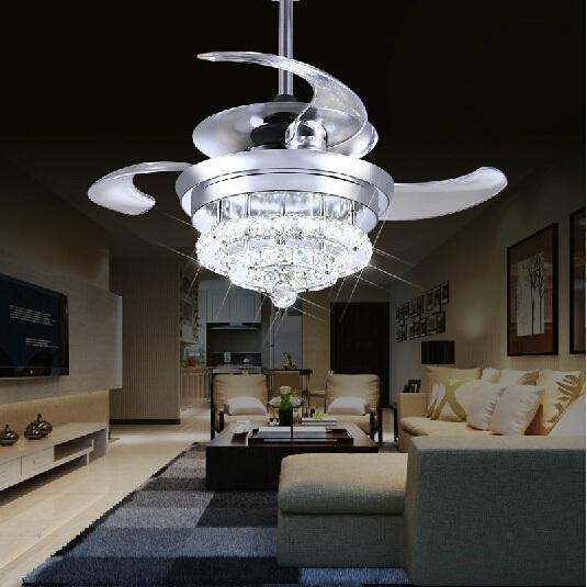 Crystal Fan Lights 100 240v Invisible Ceiling Fans Modern