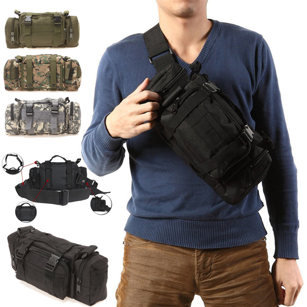 3P Canvas Molle Utility Sport Hiking Military Duffle Tactical Waist Bag Backpack - Xin Hui Currents store