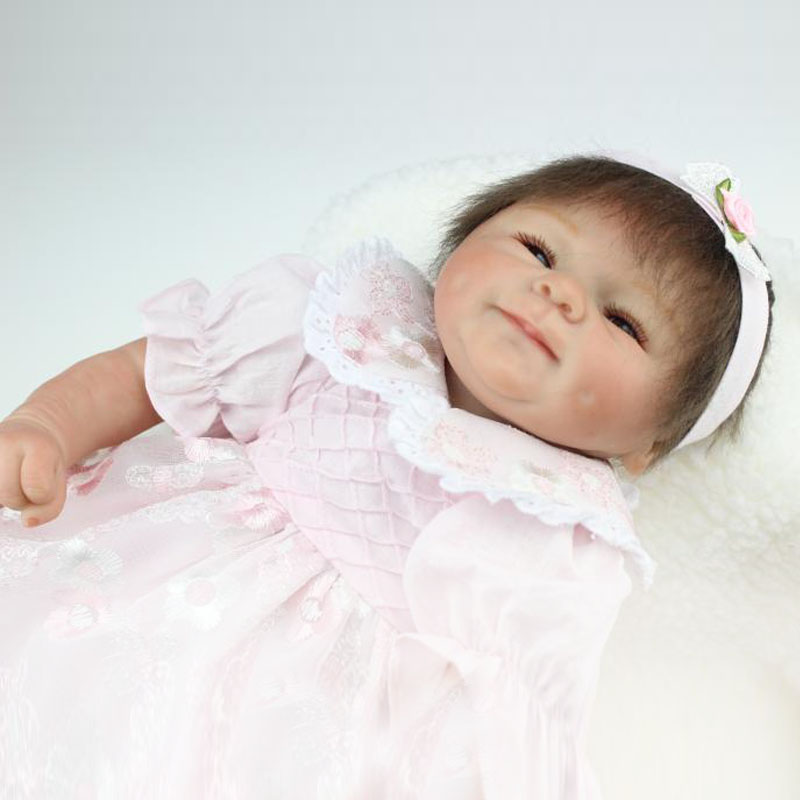 20 Inches 45CM Top Quality Fashion Reborn Newborns Alive Baby Doll Toys soft Silicone vinyl toddler dolls handmade Girls Gift<br><br>Aliexpress