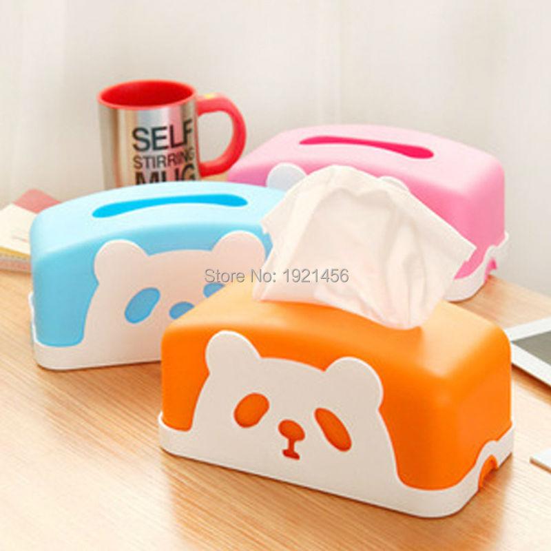 Cute Cartoon Panda Tissue Box Fashion Car Smoke Box Sitting Room Dining-Room Cafe Tissue Box(China (Mainland))