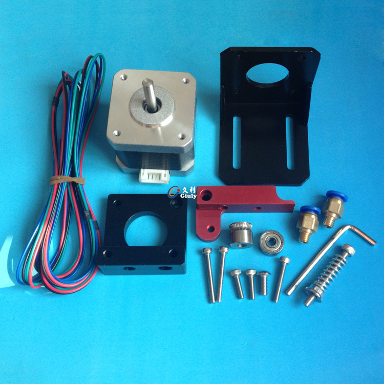 3D printer parts remote bowden Extruder kit/set compact extruder aluminum alloy for 1.75 mm filament with 42 motor(China (Mainland))