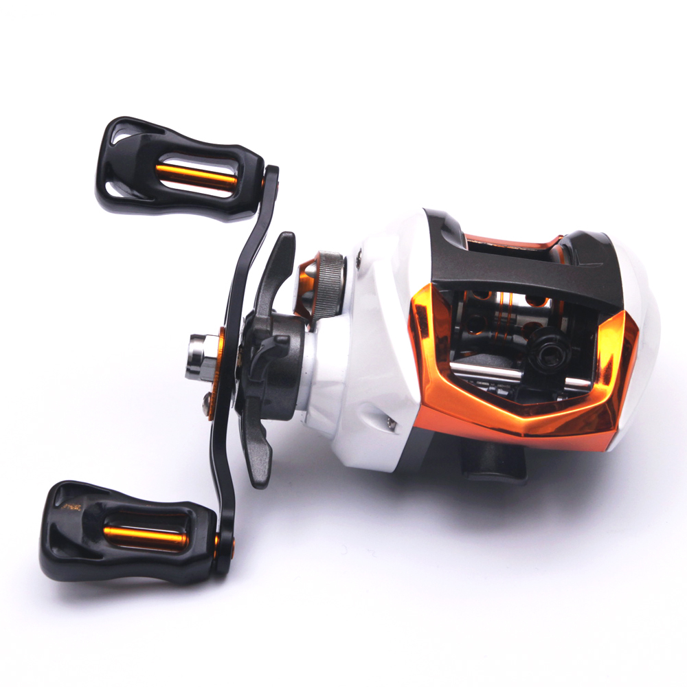 190g LP200 12+1BB Gear Ratio 6.3:1 Black Left&Right Hand Baitcasting Ice Fishing Reel Low Profile Baitcaster For Fishing Tackle(China (Mainland))