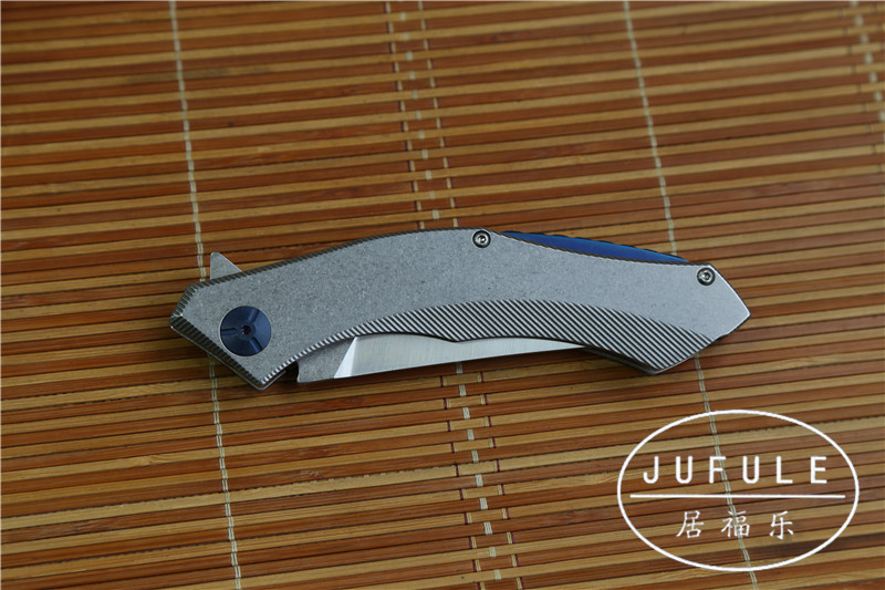 Buy JUFULE tactical folding D2 blade full steel Handle camping hunting kitchen knife survival gift pocket knives utility EDC tools cheap