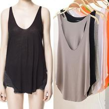 US Women Summer Sexy Loose V-neck Tank Top Fitness Fashion Sport Sleeveless Tee Top Shirt 5 Colors