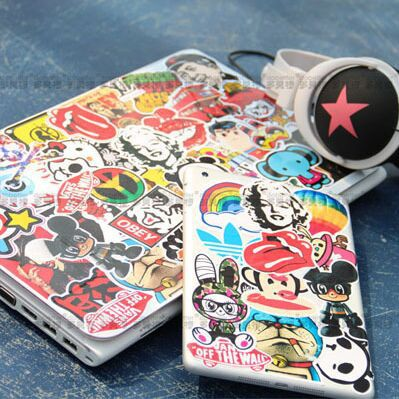 Free shipping 120 pieces laptop stickers ,laptop skin,hot selling cheap price(China (Mainland))
