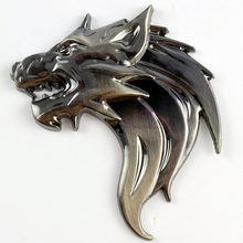 Buy 3D Metal Wolf Tiger Lion Head Auto Car Truck Motorcycle Sticker Prime Emblem Badge Stickers Decal Car Styling for $7.59 in AliExpress store