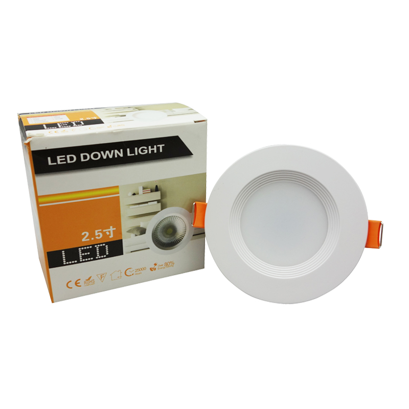 10PCS Full Power LED Ceiling Light, 3W 7W 12W 15W 85V-265V SMD5730 High-density PVC LED Wedge Downlight CE ROHS Certificated(China (Mainland))
