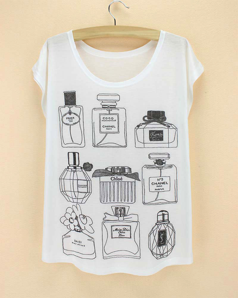 Discount sale Novelty print Top Tees plus size women t-shirt 2015 woman clothing short sleeve Tshirt factory wholesale & retail(China (Mainland))