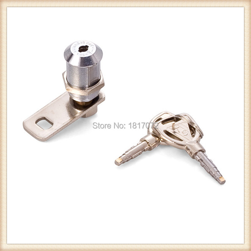 10 pieces off on security lock with disc mechanism brass stick key for toolbox mailbox slot machine(China (Mainland))