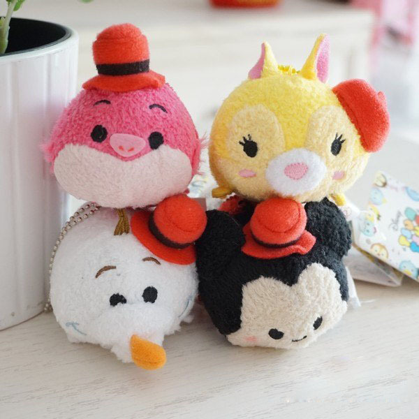 TSUM Mini Rare UNIQLO Cheshire Cat Minnie Mickey Olaf Dumbo Red Hat Cartoon Stuffed Plush toys girls Gift Collection - 20144you store