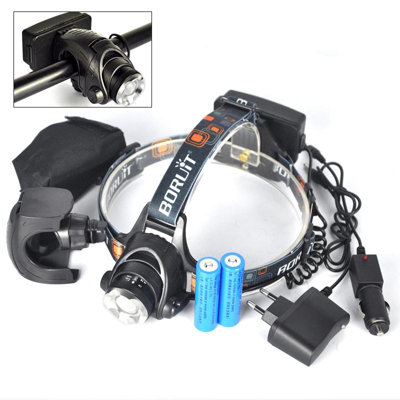 2300 Lumens Zoom Headlamp Lantern XM-L L2 LED Flashlight Head Lamp Bike Lanterna Head Light+Ac/Car Charger+2x18650 Battery<br><br>Aliexpress