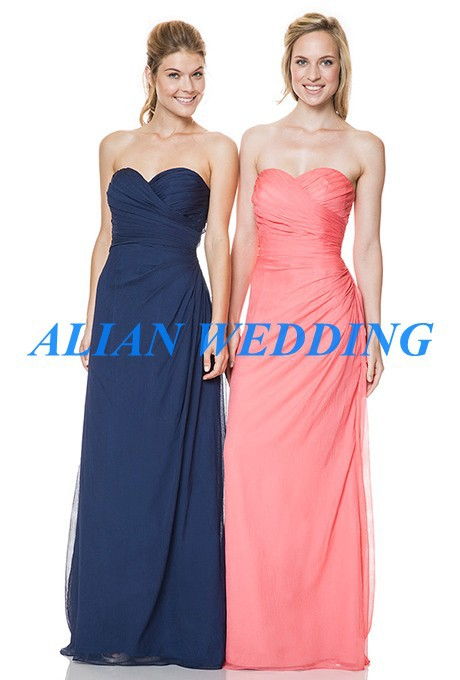 Nef bleu de demoiselle d 39 honneur robes longues pour les for Robes semi formelles pour les mariages