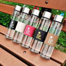 2016 Quality clear glass water bottle 450ML drinkware with tea infuser my drinkware sports bottle lemon juice bottles