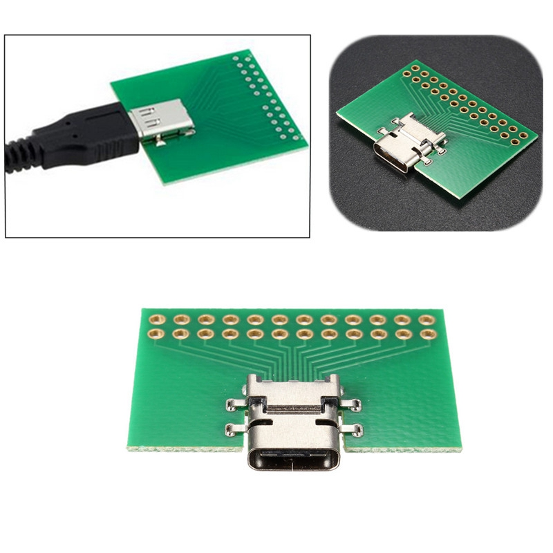 USB 3.1 Type C Female Test Socket Connector PC SMT Experiment Board PCB Board PCB Prototype Manufacturing Adapter Plate(China (Mainland))