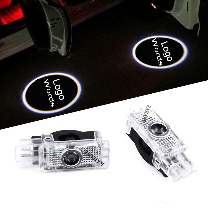 2 X car door light ghost shadow light logo projector Mercedes logo lights R171 R199 W203 CLK W209(China (Mainland))