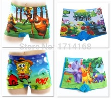 Free Shipping Kids Swim suits Cartoon boys swimming trunks short pants Drop shipping