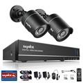 SANNCE HD 4CH CCTV System 1080P HDMI DVR 2PCS 720P 1280TVL CCTV IR Outdoor Video Surveillance