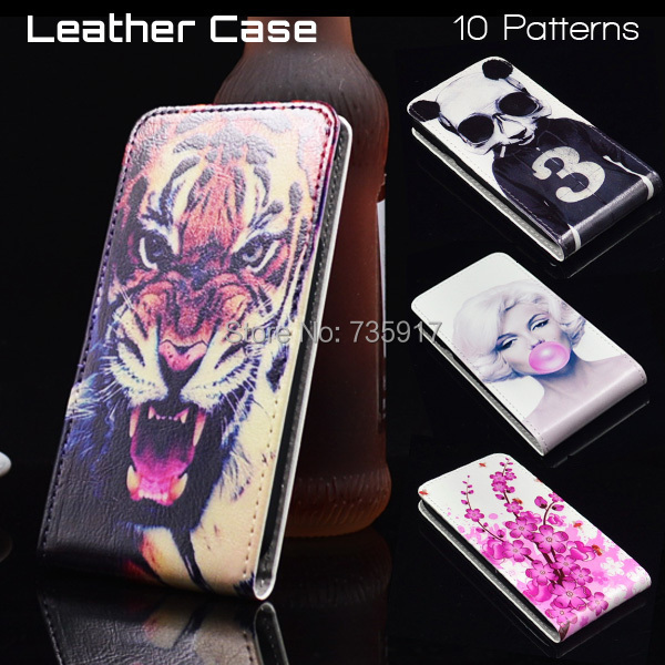 HOT! 12 Patterns Colored Painting PU Leather FOR Nokia Lumia 820 Case Cover, FOR Nokia 820 Case Cover in Stock(China (Mainland))