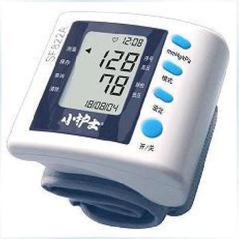 Wrist length type sphygmomanometer anatomised home blood pressure monitor