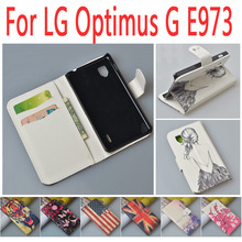 New High Quality Wallet with Stand PU Leather Flip Case For LG Optimus G E973 E975 F180 Cover With Card Holder JR-LR-P