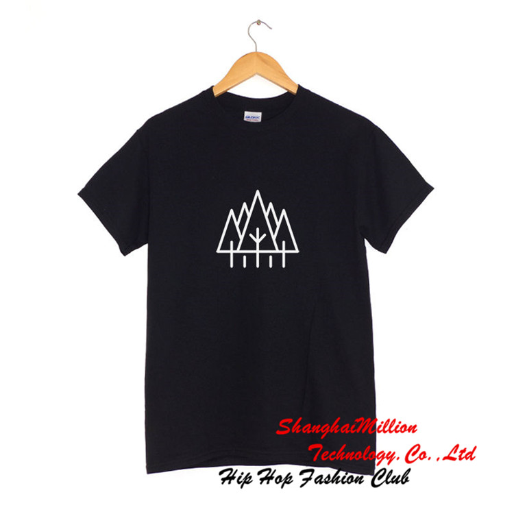 Unisex Trees Logo T Shirt hipsterl camping outdoors Tee SM0315DX(China (Mainland))