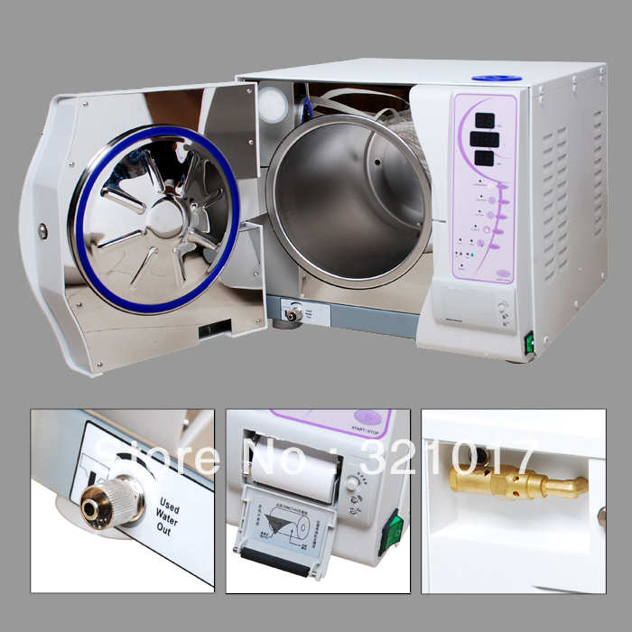 Class B 23L Vacuum Steam Dental Autoclave Sterilizer WITH PRINTER FREE SHIPPING(China (Mainland))