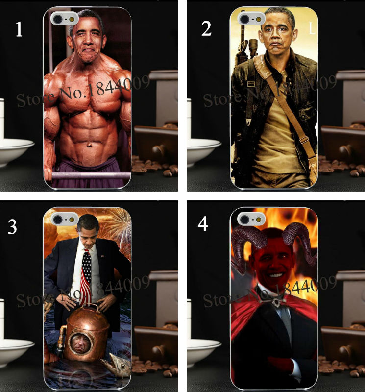new U.S. President barack Obama Style Hard Skin Transparent Cover Case for iphone 5 5s 4 4S 5c(China (Mainland))