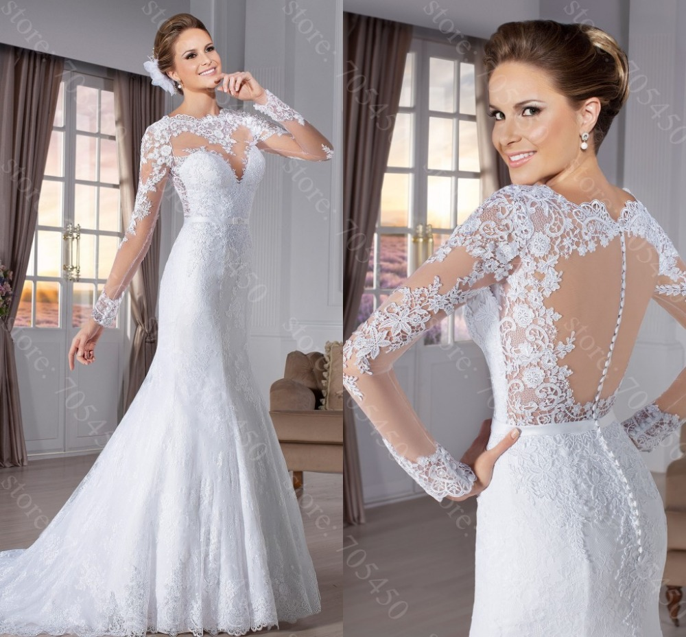 Attractive robe de mariee mermaid wedding gowns brautkleid for Aliexpress mermaid wedding dresses