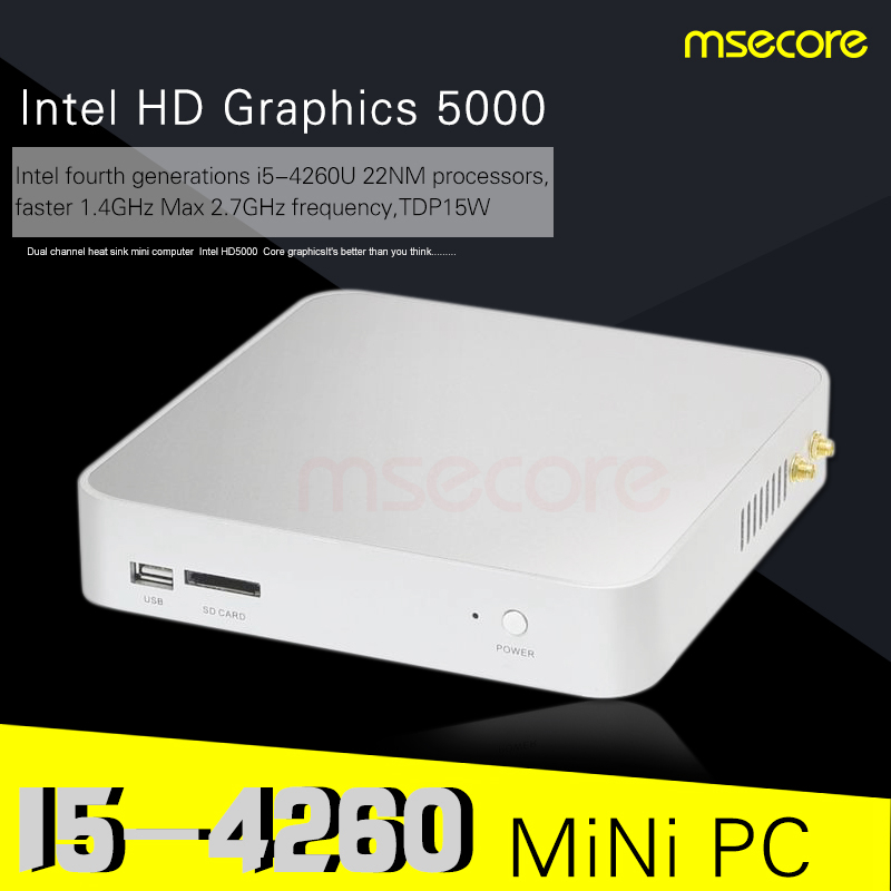 Intel I5 4260U Mini PC Windows 10 Desktop Computer stick pc barebone system Pocket PC Nettop thin client HD5000 Graphics WiFi(China (Mainland))