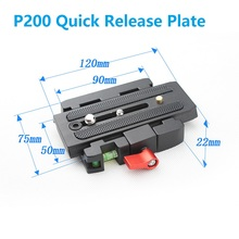 P200 Quick Release Assembly Aluminium Alloy Clamp Adapter+Quick Release Plate for Manfrotto 501 500AH 701HDV 503HDV Q5