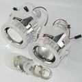2 5 inch bi xenon projector lens mask shroud with double angel eyes for car HID
