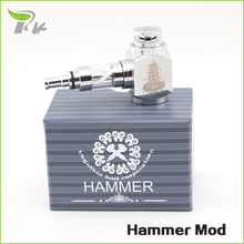 cigarros electronicos e-cigarette smoking mod kit stainless steel hammer electronic cigarette 18350 18650 battery TZ061
