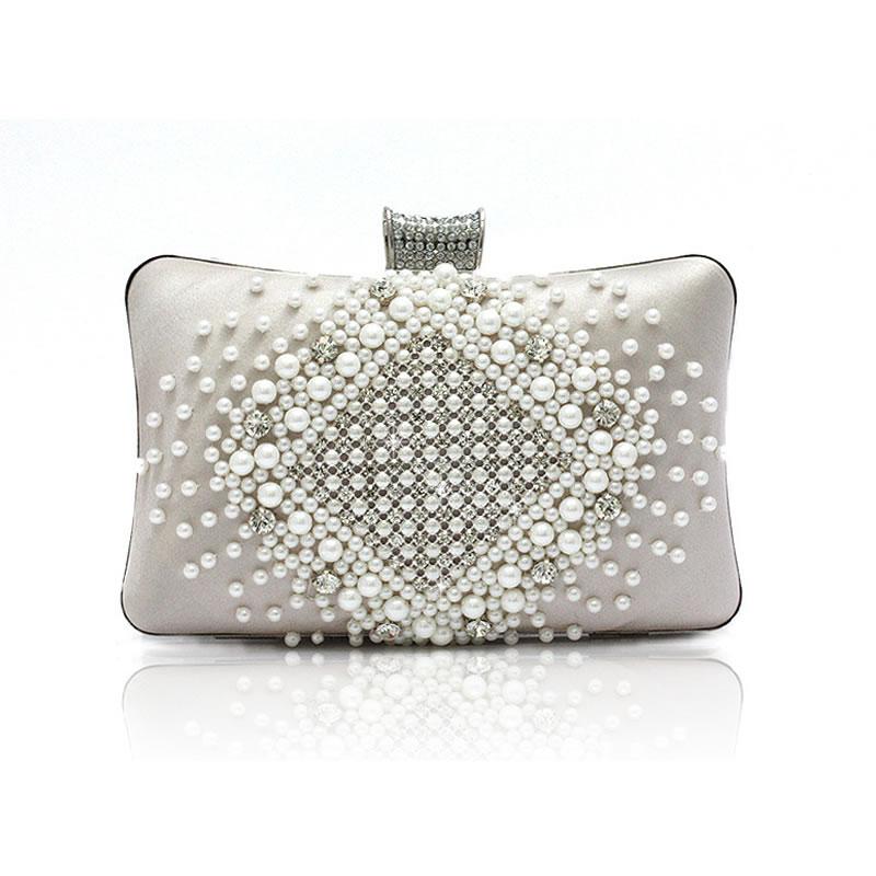2015 fashion women crystal Clutch pearls Evening Bag purple Clutch wedding purse party bag with shoulder wallets chian XA103L<br><br>Aliexpress