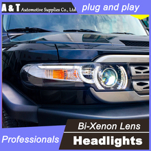 car styling Toyota Fj CRUISER headlights U angel eyes DRL 2008-14 LED light bar Q5 bi xenon lens h7 - A & T International Ltd. store