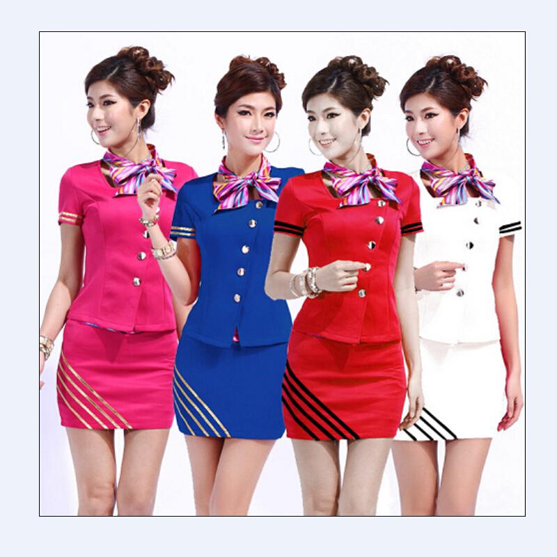 Popular receptionist uniforms women buy cheap receptionist for Uniform spa manager