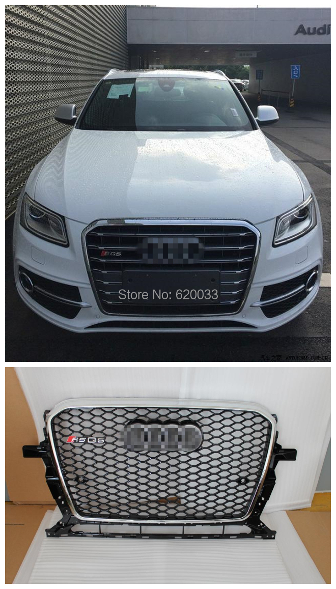 Fits for Q5 RSQ5 front bumper grill grille, Mesh Honerycomb grill for Q5 2013-2014<br><br>Aliexpress