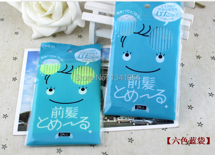 2pcs /lot magic stickers Hair post with no trace of fixed stick head (B006)(China (Mainland))