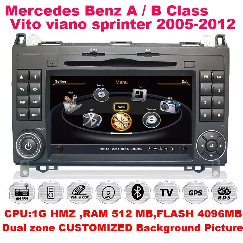 A8 S100 Car DVD GPS 3G Wifi RDS 20VCD Radio Navigation For Mercedes-Benz A B Class A160 A180 B200 Viano Vito Sprinte(China (Mainland))