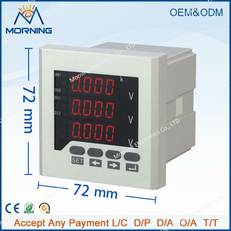 3AV63 frame size 80*80mm LED Digital display three phase high precision voltmeter<br><br>Aliexpress