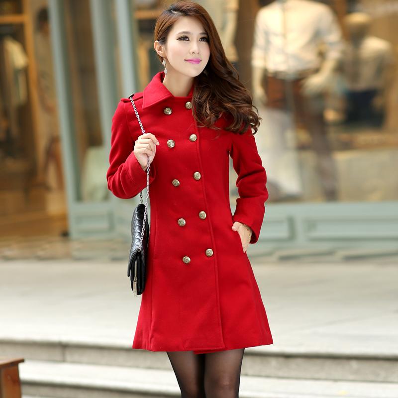 Womens Red Coat