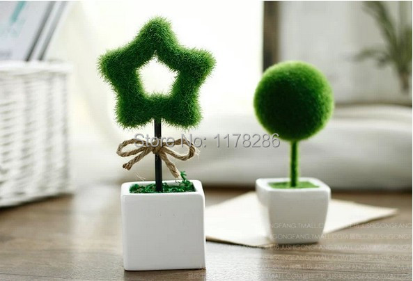 Small desk plants high artificial flower set green plant Best small office plants