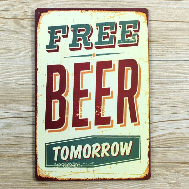 New Arrival Cold Beer Tin Signs Metal Wall Design Vintage Poster Craft Decor Cafe Bar Retro