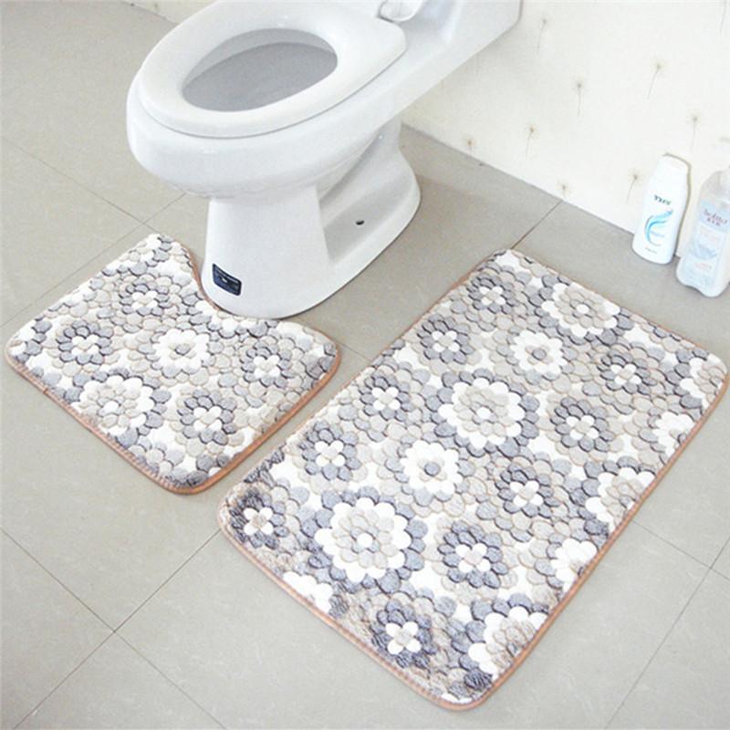 Tapis de toilette ensemble promotion achetez des tapis de toilette ensemble promotionnels sur Tapis de bain mousse memoire