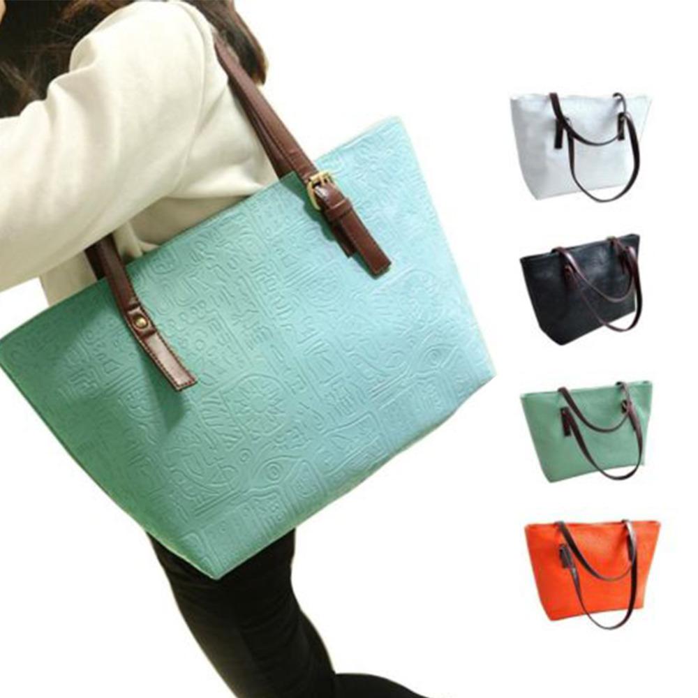 Oracles Women Vintage Big Messenger Bag Tote Fashion Handbag Minimalist Shoulder PU Leather large bags Big Sale(China (Mainland))