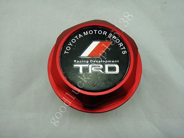 TRD Billet Aluminum Engine Oil Filler Cap Fuel Fill Tank Cover JDM RED N02(China (Mainland))